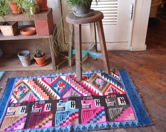 SALE!!! Vintage Peruvian Hand Woven Rug / Tapestry