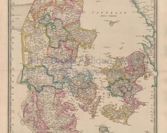Denmark Vintage Map Wyld 1863 Original SKU:1860wyldlm-009