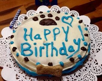 """Dog Treats - Giant """"Happy Birthday"""" Cookie"""