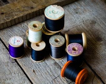 10 Wooden Spools