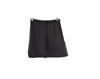 Stefanel Womens Skirt Size 38 W24 Black Spots Rayon