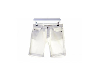 Gas Womens Shorts W30 White Cotton