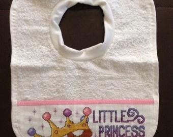 Little princess baby bib