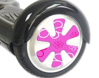 Skin Decal Wrap for Hoverboard Balance Board Scooter Wheels Flower Power