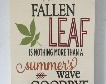 Falling Leaf Sign