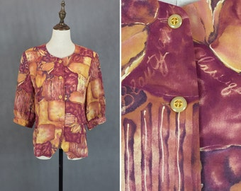 50% OFF FLASH SALE / Amazing Japanese Vintage Summer Blouse / Short Blouse / Day Blouse / Made in Japan / Size Medium