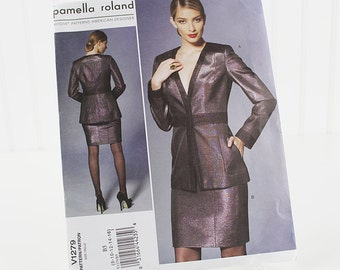 Vogue Jacket and Skirt Pattern, Pamella Roland, UNCUT Sewing Pattern, V1279, Size 8-16