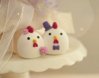 chicken cake topper, wedding cake topper