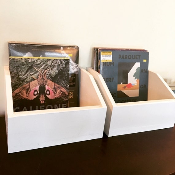 vinyl record storage boxes by basementwoodworking on etsy. Black Bedroom Furniture Sets. Home Design Ideas