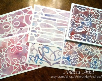 Fading Dusk - Pack of Six Blank A2 Notecards - Watercolor Art Prints