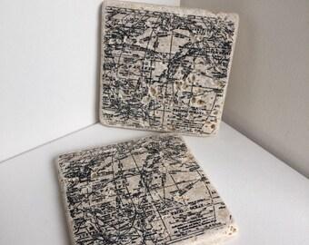 Map Stone Coasters