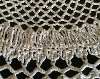 Vintage crocheted doily crepe thread