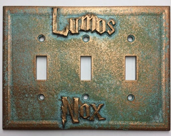 Lumos/Nox (Harry Potter) Triple Light Switch Cover