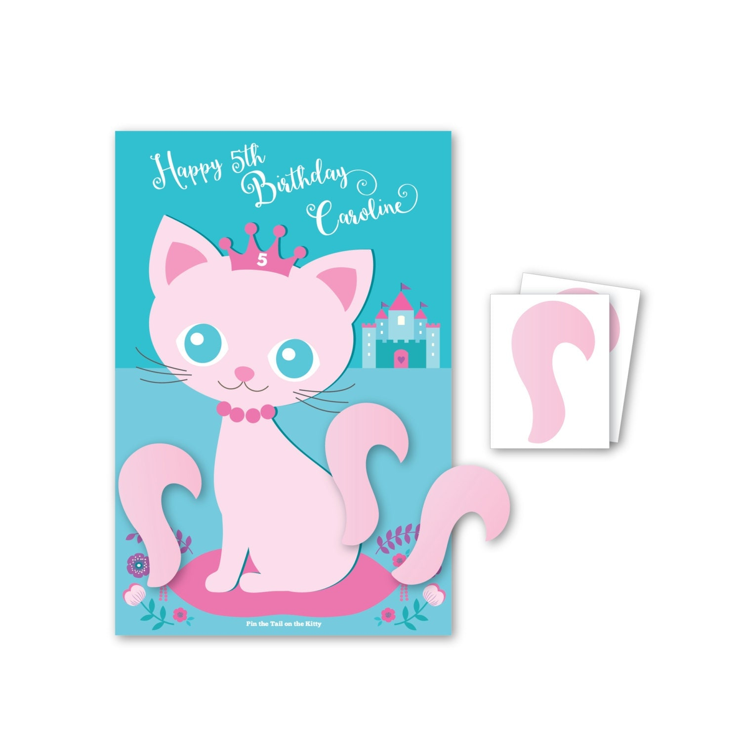 Amazon.com: Witch and Cat Party Game Pin the Tail: …