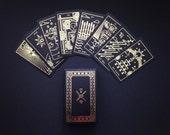Golden Thread Tarot Deck - tarot cards, modern tarot deck, oracle cards, divination, tarot cards, minimal tarot deck