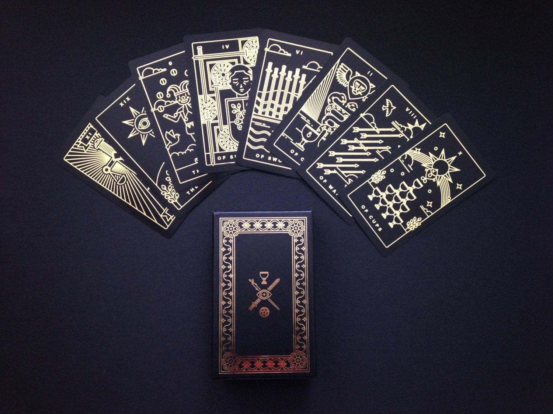 Blue Shades Golden Thread Tarot Deck Tarot Cards Modern Tarot Deck