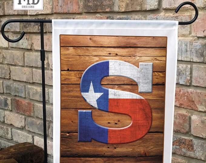 texas monogram yard flag garden flag garden gift outdoor decor flag