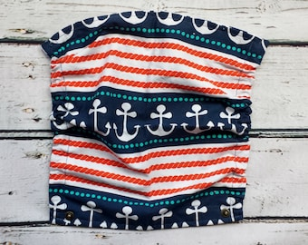 baby carrier hood - tula flat hood - baby wearing - carrier accessories - tula accessories - nautical flat hood - baby shower gift
