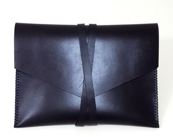 Handmade Leather Clutch iPad Case iPad Sleeve iPad Cover