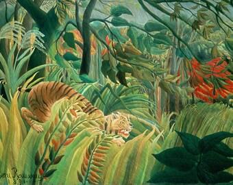 Henri Rousseau: Tiger in a Tropical Storm. Fine Art Print/Poster (001227)