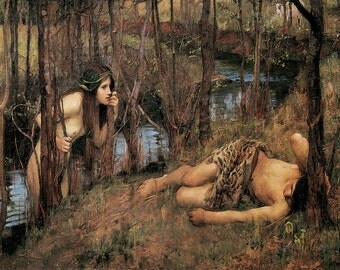 John William Waterhouse: A Naiad. Fine Art Print/Poster (00851)