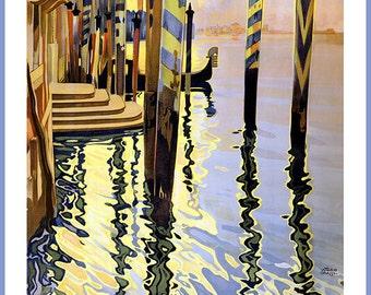 Venice, Italy. Vintage Travel Print/Poster