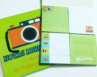 Camera Sticky Notes Set