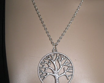Celtic tree of life necklace silver tone necklace tree