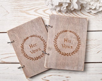 Rustic Wedding Vow Books Wedding Vow Books Bride and Groom Vow Books Set of 2 His And Her Vow Books Vow Notebooks