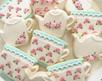 Vintage Tea Party Cookies - 1 Dozen
