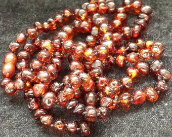 Adult Baltic Amber  necklace - Cognac