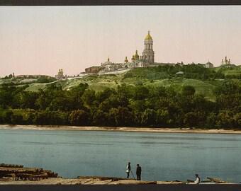 La Lavra, Kiev, Russia, (i.e., Ukraine)] 1890. Vintage photo postcard reprint 8x10-up.