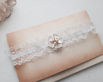 Wedding Garter , bridal garter, wedding lace garter,Ivory Lace Garter , Tossing Garter only