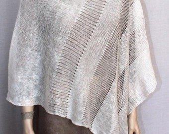 Summer Ponchos women pure linen poncho Linen white knitted scarf white Cape Top Wedding Summer Linen Womens Boho women poncho Gifts