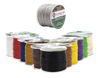 Mandala Crafts® Waxed Cord, Beading Cord, .5mm, 100 Meters, 109 Yards, Different Color Selections
