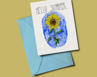 Hello Summer - greeting card