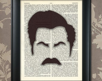 Ron Swanson print, Ron Swanson poster, Ron Swanson art, Ron Swanson decor, Ron Swanson gift, Parks and Recreation,  Nick Offerman