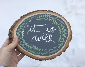 It is well wood slice