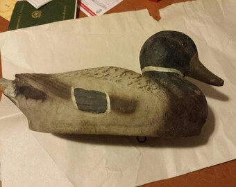 Pair of Vintage Duck Decoys Papier Mache