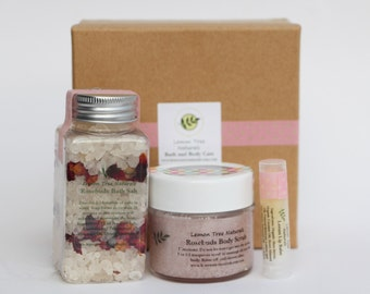 Special Gift Set, Mother's Day gift, Bath and Body Set, Body scrub set, Bath salt set, Thank You gift, Natural bath set, Spa and body set