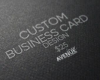 Custom business logo design - Made to order- Business Card Single Side or Both Side