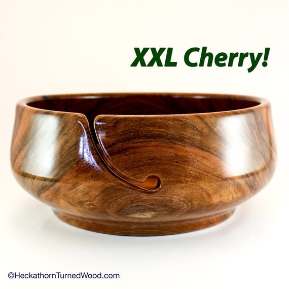 Xxl Knitting Yarn : Yarn bowl xxl project cherry by heckathornturnedwood
