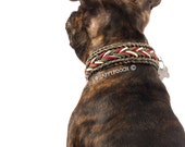 Camo Paracord Dog Collar, Dog paracord Collar Camo Edition, Multicolored Dog Collar, Colorful Dog Collar, With Quick Release Buckle