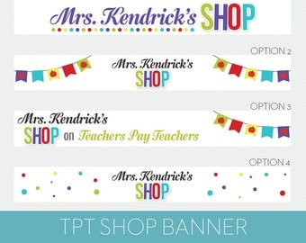TPT Banner // Teachers Pay Teachers Shop Banner // Mrs. Kendrick Template - Blog Accessories
