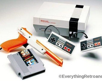 Free SHIPPING!- Nintendo Entertainment System Action Set- Mario/Duckhunt Game INCLUDED! Gift for Old SCHOOL Gamers!