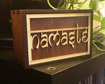 Tarot Cards Box Namaste Stash Box Namaste Treasure Box Namaste Mindfulness Gift Namaste Spiritual Gift