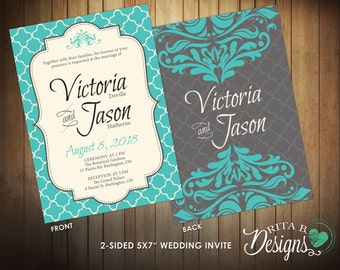 tiffany blue wedding invitations | etsy, Wedding invitations