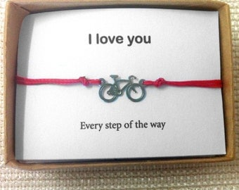 Bicycle Bracelet Couples, Matching Bracelets, Lovers Bracelet, His and Hers, Couple Gift Set, Couples Anniversary, Boyfriend Girlfriend,