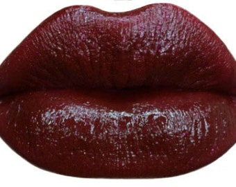 Red Lipstick~Blood Red Lipstick with a touch of Glitter BURLESQUE  Matte Lipstick