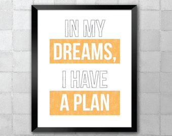 Dreams –Abba Song Lyric Quote 8x10 11x14 Typography Wall Art Print